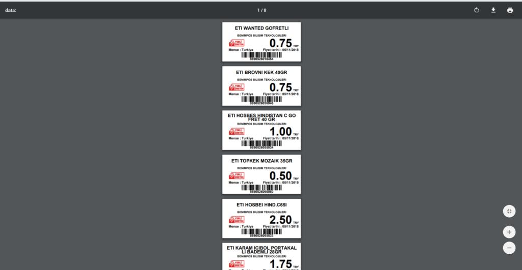 Web uygulama ekran görüntüleri